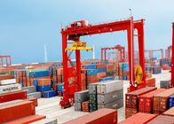 Loading And Unloading Container Lifting Crane , RMG Rail Mounted Gantry Crane