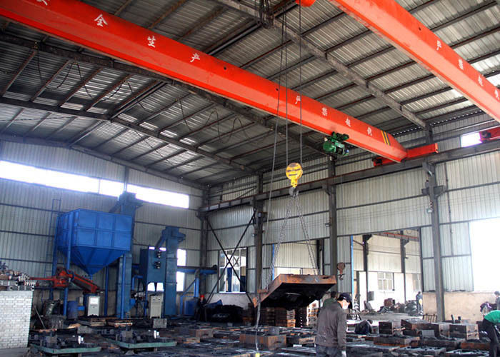 Industrial Workshop Single Beam Overhead Crane , Electric Overhead Travelling Crane